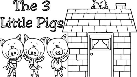 cool 3 Little Pigs House Coloring Page Pig house House