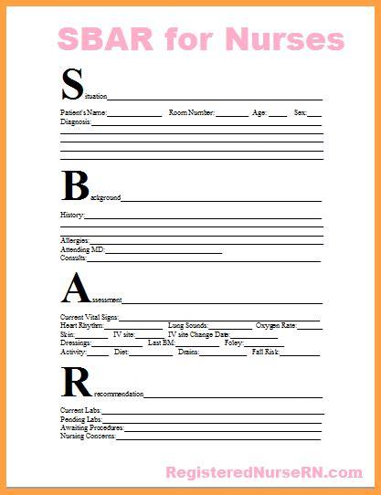 sbar template word sbar format exle hoss roshana co