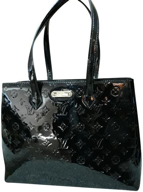 louis vuitton wilshire handbag monogram vernis mm black patent leather tote tradesy