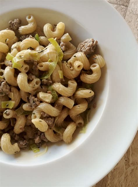 hack lauch pfanne pasta ohne t 252 te hack lauch pfanne danielas foodblog