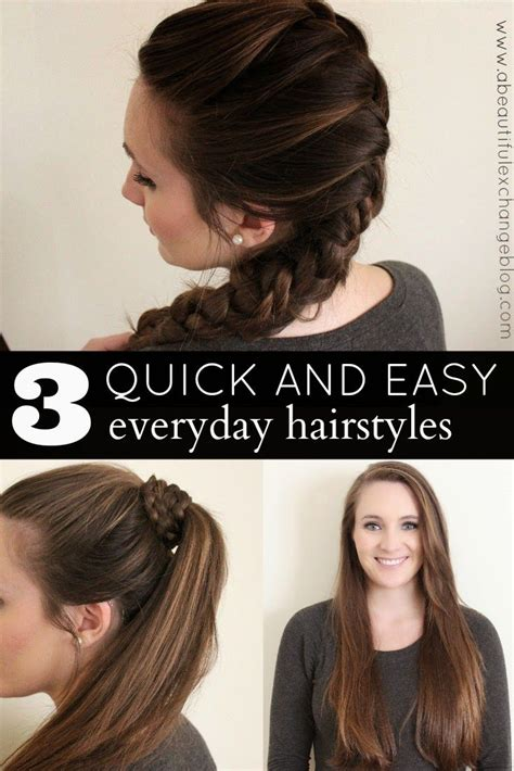 3 quick and easy hair styles for every day heartmyhair