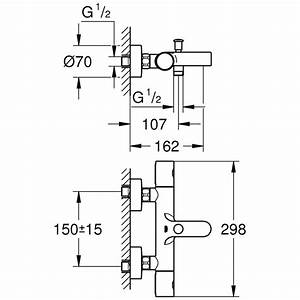 Grohe Grohtherm 2000 Thermostat Wannenbatterie : grohe grohtherm 1000 cosmopolitan thermostat ~ Watch28wear.com Haus und Dekorationen