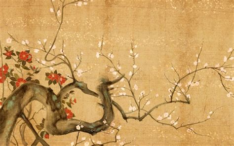 japanese flowers art wallpaper painting high