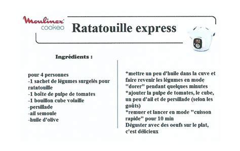 recherche de recettes de cuisine ratatouille express recettes cookeo