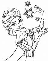 Coloring Elsa Pages Printable sketch template