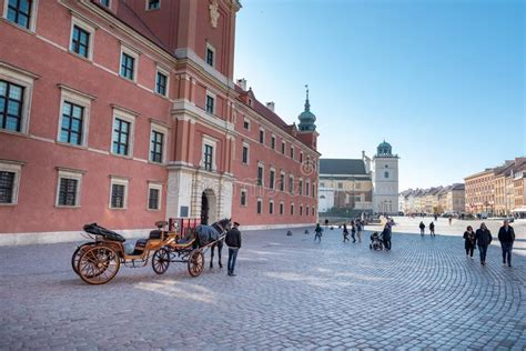 Downtown Warsaw editorial stock photo. Image of city ...