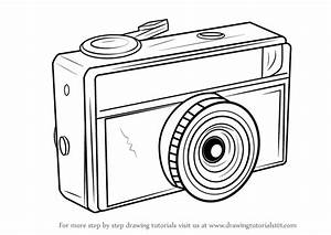 Learn How to Draw a Vintage Camera (Everyday Objects) Step ...