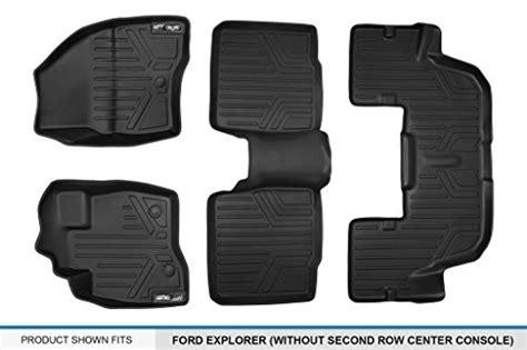 Maxfloormat Floor Mats 3 Row Set Black For 2017-2018 Ford