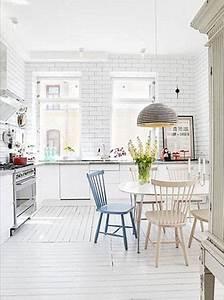 Cuisine Avec Parquet : d co la cuisine dit oui au parquet blanc ~ Melissatoandfro.com Idées de Décoration