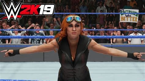 wwe  becky lynch entrance signature finisher