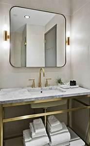 Miroir Étagère Salle De Bain : 1001 id es pour un miroir salle de bain lumineux les ambiances styl es ~ Melissatoandfro.com Idées de Décoration