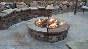 Stone, Propane, Fire, Pit, Kit, U2022, Knobs, Ideas, Site