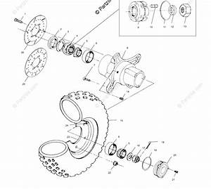 Polaris Atv 2000 Oem Parts Diagram For Front Wheel