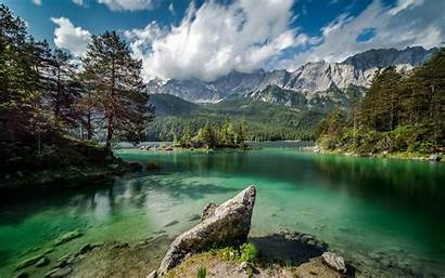 Landscape Nature Summer Germany Lake Mountain Water
