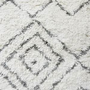 Tapis Gris Blanc : house doctor kuba tapis en laine blanc ivoire gris carre 180 x 180 cm ~ Teatrodelosmanantiales.com Idées de Décoration