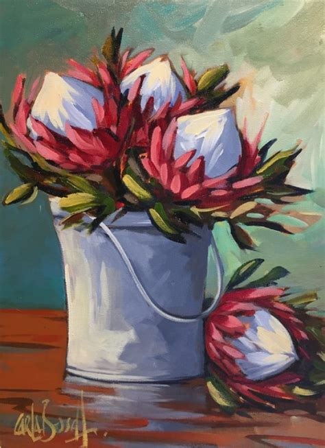 protea  life oil painting  carla bosch floral
