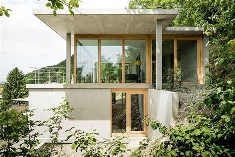 Moderne Coole Häuser by Wohnhaus Am Hang Wyhlen H 228 User Gian Salis Architekt
