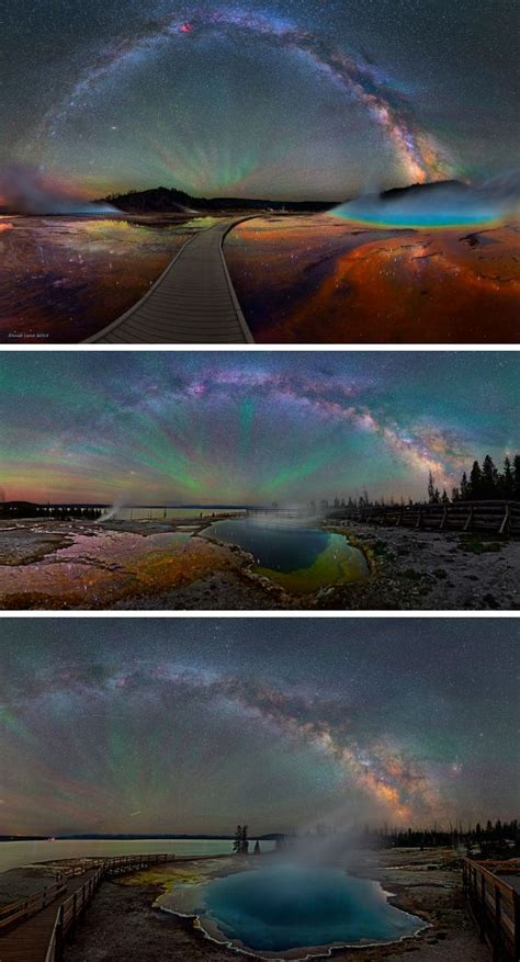 The Milky Way Over Yellowstone Impossibly Beautiful