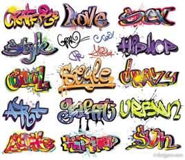 font designer 4 designer exquisite graffiti font design 01 vector material