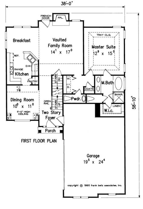 Frank Betz Cunningham Floor Plan by Breckinridge House Floor Plan Frank Betz Associates
