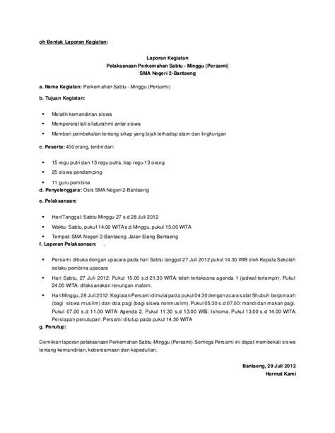 Contoh Kronologis Kegiatan Rapat Kerja by Oh Bentuk Laporan Kegiatan