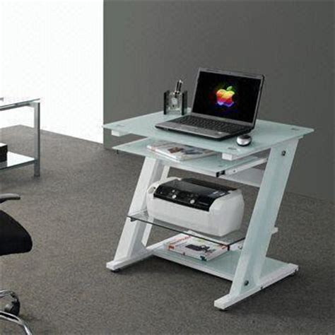 desk with printer cabinet china computer desk with tempered glass tabletop pull out