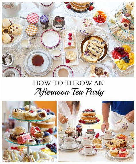 throw  afternoon tea party life  sweeter