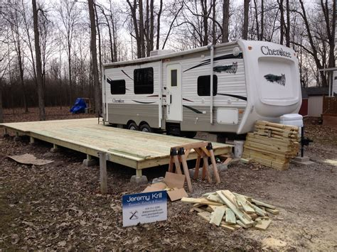 Treated Wood Deck ? Hickory Acres Campground ? Edgerton