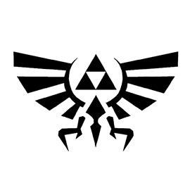 legend  zelda triforce symbol stencil