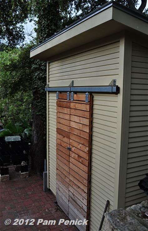 narrow shed  sliding door mak