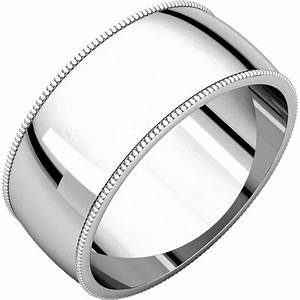 n23898w 14k white gold milgrain edge plain wedding ring With milgrain edge wedding ring