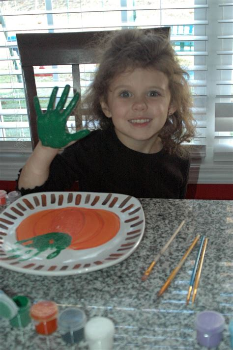 chasing pillars give  thanksgiving handprint plate