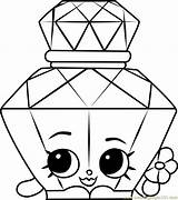 Shopkins Coloring Perfume Bottle Polly Coloringpages101 Whitesbelfast Printable Designlooter Template Credit Toys sketch template