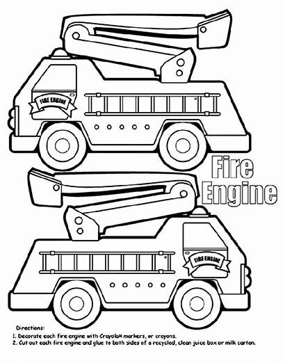 Fire Engine Coloring Box Pages Crayola Bomberos