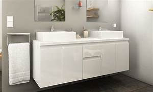 meuble de salle de bain suspendu groupon With meuble salle de bain suspendu blanc