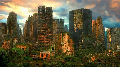 sci fi futuristic apocalyptic cities urban decay ruin art