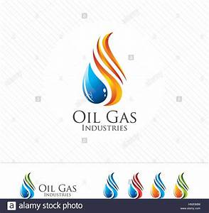 3D oil and gas logo design. Colorful 3D oil and gas logo ...