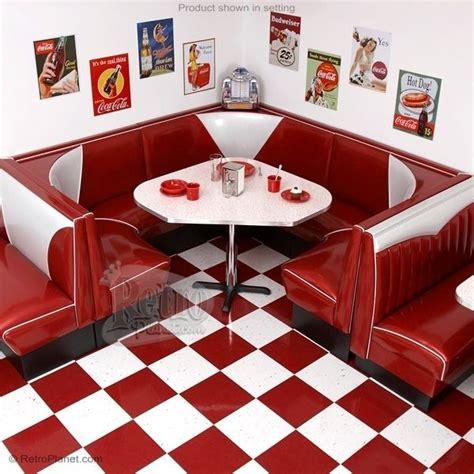 3 4 circle v back diner booth set designer retro