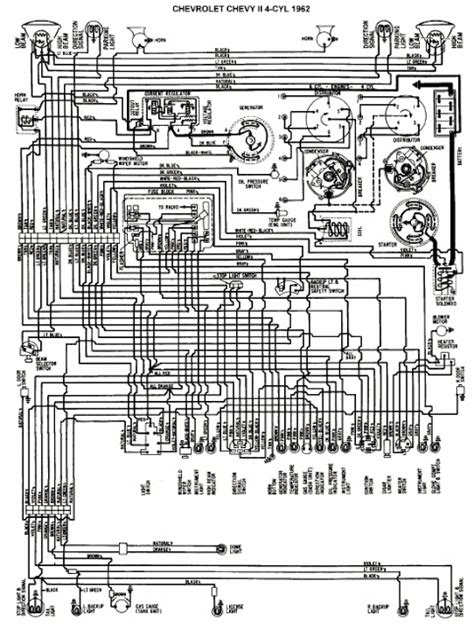 wiring diagram   chevrolet chevy ii  cylinder   wiring diagrams