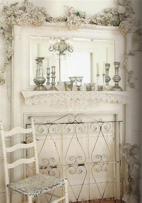 shabby chic fireplace shabby white creams and white 1 pinterest