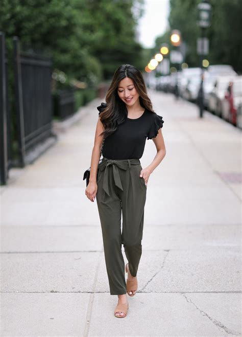 Soft Jersey Drape Pants + Black Cropped Blazer   Pinterest   Ankle pants Casual summer outfits ...