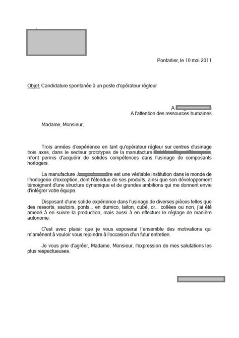 licence pro cuisine lettre de motivation suisse