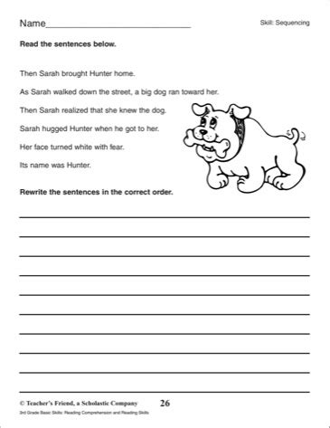 15 best images of third grade reading sequence worksheets