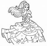 Barbie Princess Coloring Pages Printable Categories sketch template