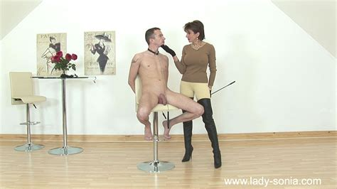 Femdom Handjob By Hot Milf In Jodhpurs And Leather Thigh