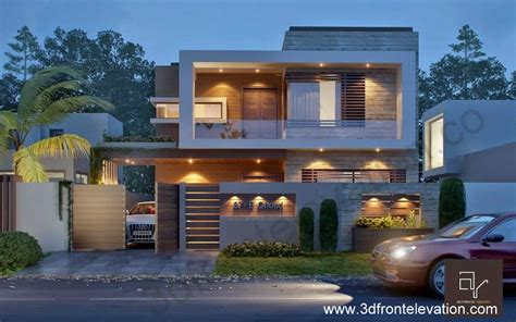house plans with open floor plan 3d front elevation com 10 marla modern contemporary front