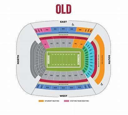 Map Stadium Arkansas Memorial Razorbacks Tickets Texas