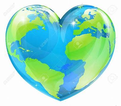 Heart Globe Earth Clipart Shape Loving Symbol