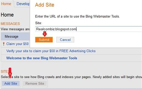 How To Submit Your Blog/site Url To Bing