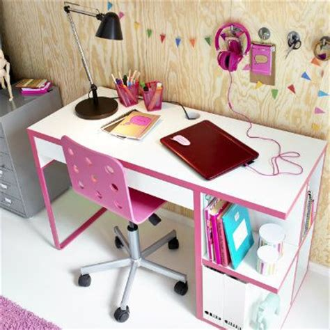 micke desk with integrated storage white pink the micke integrated desk works for many tastes the pink
